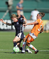 Washington Freedom  defender Sonia Bompastor (8) works to win the ball from Sky Blue FC defender Julianne Sitch (38).  Washington Freedom defeated Skyblue FC 2-1 at RFK Stadium, Saturday May 23, 2009.