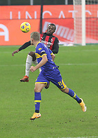 Milano  13-12-2020<br /> Stadio Giuseppe Meazza<br /> Campionato Serie A Tim 2020/21<br /> Milan - parma<br /> nella foto:  Kalulu                                                      <br /> Antonio Saia Kines Milano