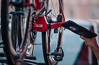 UCI mechanical doping scanner checking the Team Trek-Segafredo teambikes<br /> <br /> Stage 9: Arras Citadelle > Roubaix (154km)<br /> <br /> 105th Tour de France 2018<br /> ©kramon