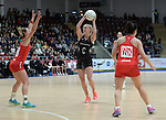 New Zealand's Shannon Francois in action during todays match   <br /> <br /> Swansea University International Netball Test Series: Wales v New Zealand<br /> Ice Arena Wales<br /> 08.02.17<br /> ©Ian Cook - Sportingwales