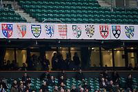 Perimiter signage at Twickenham Stadium during the 131st Varsity Match between Oxford University and Cambridge University at Twickenham on Thursday 06 December 2012 (Photo by Rob Munro)