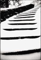 Snowy steps, Ft. Tyron Park, NYC<br />