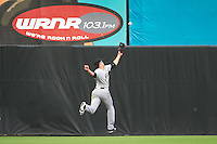 Akron RubberDucks center fielder Bradley Zimmer (6) during the second game of a doubleheader against the Bowie Baysox on June 5, 2016 at Prince George's Stadium in Bowie, Maryland.  Bowie defeated Akron 12-7.  (Mike Janes/Four Seam Images)