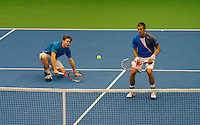11-02-12, Netherlands,Tennis, Den Bosch, Daviscup Netherlands-Finland, Dubbels,  Jarkko Nieminnen en Harri Heliovaara