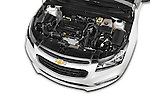 Car Stock 2015 Chevrolet Cruze 4-Door Sedan 2LT Automatic 4 Door  Engine high angle detail view