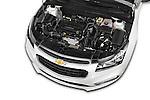 Car Stock 2015 Chevrolet Cruze 4-Door Sedan 2LT Automatic 4 Door  Engine high angle detail view
