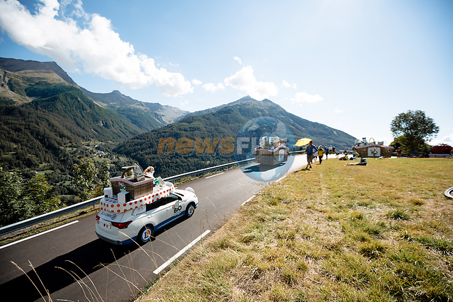 The publicity caravan before Stage 4 of Tour de France 2020, running 160.5km from Sisteron to Orcieres-Merlette, France. 1st September 2020.<br /> Picture: ASO/Thomas Maheux | Cyclefile<br /> All photos usage must carry mandatory copyright credit (© Cyclefile | ASO/Thomas Maheux)