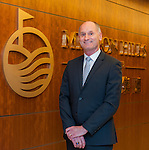 John Jalsevac, Head of School, Mission Hills International School poses at Mission Hills offices on November 21, 2014 in Hong Kong, China. Photo by Xaume Olleros / Power Sport Images