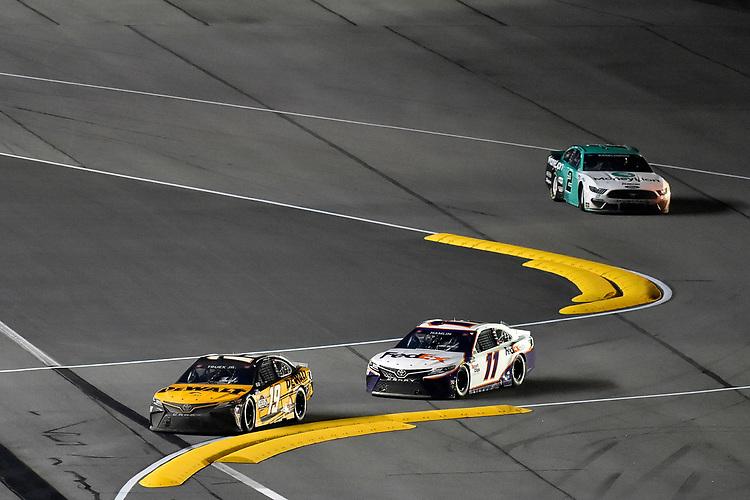 #19: Martin Truex Jr., Joe Gibbs Racing, Toyota Camry DeWalt and #11: Denny Hamlin, Joe Gibbs Racing, Toyota Camry FedEx Express