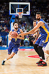 UCAM Murcia's Facundo Campazo and Faverani during the first match of the playoff at Barclaycard Center in Madrid. May 27, 2016. (ALTERPHOTOS/BorjaB.Hojas)
