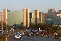 INDIA, Mumbai, business and finance complex Bandra-Kurla, National Stock exchange and headquarter of pharmaceutical and biotechnology company Wockhardt Ltd. / INDIEN, Mumbai, Finanz und Business Komplex Bandra-Kurla