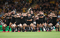 7th November 2020, Brisbane, Australia; Tri Nations International rugby union, Australia versus New Zealand;  The Allblacks perform The Haka