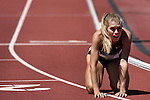 13 JUNE 2015: Colleen Quigley of Florida State reacts after winning the Women's 3000 meter Steeplechase during the Division I Men's and Women's Outdoor Track & Field Championship held at Hayward Field in Eugene, OR. Quigley won the event in a time of 9:29.32. Steve Dykes/ NCAA Photos