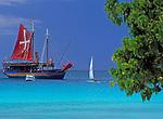 BRB, Barbados, Carlisle Bay: Ausflugsziel der Jolly Roger Pirate Cruises | BRB, Barbados, Carlisle Bay: Jolly Roger Pirate Cruises