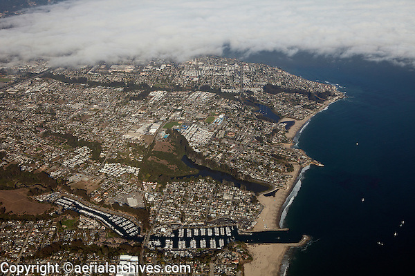 aerial photograph Santa Cruz harbor, California
