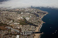 aerial photograph Santa Cruz harbor, California