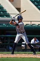 Detroit Tigers Cesar Calderon (35) bats during a Florida Instructional League intrasquad game on October 17, 2020 at Joker Marchant Stadium in Lakeland, Florida.  (Mike Janes/Four Seam Images)