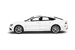 Car driver side profile view of a 2016 Audi A7 3.0 TDI Premium Plus  4 Door Hatchback