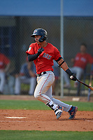 Boston Red Sox Tanner Nishioka (47) bats during a Minor League Spring Training game against the Tampa Bay Rays on March 25, 2019 at the Charlotte County Sports Complex in Port Charlotte, Florida.  (Mike Janes/Four Seam Images)