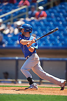 South Bend Cubs center fielder Connor Myers (13) at bat during a game against the Lake County Captains on July 27, 2016 at Classic Park in Eastlake, Ohio.  Lake County defeated South Bend 5-4.  (Mike Janes/Four Seam Images)