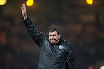 Dundee v St Johnstone....08.11.14   SPFL<br /> Tommy Wright acknowledges the fans at full time<br /> Picture by Graeme Hart.<br /> Copyright Perthshire Picture Agency<br /> Tel: 01738 623350  Mobile: 07990 594431