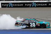 NASCAR XFINITY Series<br /> Irish Hills 250<br /> Michigan International Speedway, Brooklyn, MI USA<br /> Saturday 17th June 2017<br /> Denny Hamlin, Hisense Toyota Camry celebrates his win<br /> World Copyright: Brett Moist<br /> LAT Images