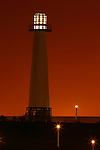 Rainbow Harbor Lighthouse at sunset, Long Beach, CA
