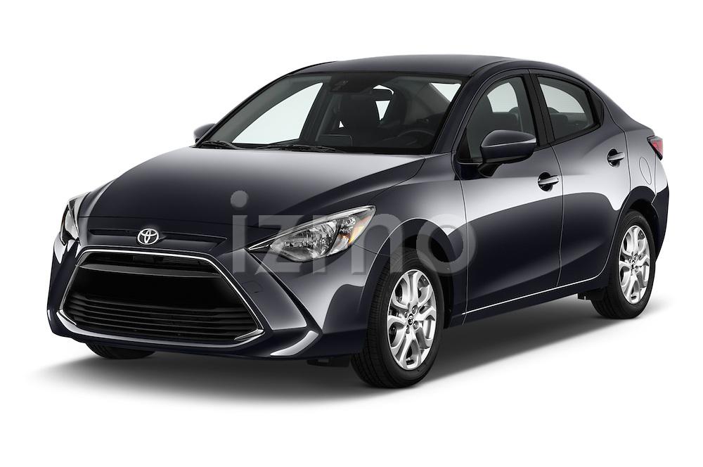 2018 Toyota Yaris-iA AT 4 Door Sedan Angular Front stock photos of front three quarter view