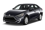 2018 Toyota Yaris-iA AT 4 Door Sedan Angular Front stock photos of front three quarter view