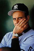 New York Yankees Manager Joe Torre before a game against the Anaheim Angels circa 1999 at Angel Stadium in Anaheim, California. (Larry Goren/Four Seam Images)