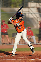 AZL Giants Orange designated hitter Tyler Wyatt (83) at bat during a game against the AZL Angels at Giants Baseball Complex on June 17, 2019 in Scottsdale, Arizona. AZL Giants Orange defeated AZL Angels 8-4. (Zachary Lucy/Four Seam Images)