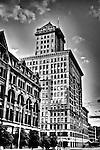 City Center Building on 4th & Main St., Dayton Ohio, Black & white