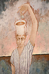 Coffee cup head mural