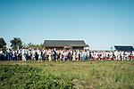 Estland, Insel Naissaar, Choere (hier Chor Sireen) und Zuhoerer,  Nargen Chor-Festival <br /> <br /> Engl.: Europe, the Baltic, Estonia, Naissaar island, first Naissaar Song Celebration, song festival, culture, choirs, visitors, 28 June 2014<br /> <br />    Das Event dient fuer viele als Einstimmung auf das grosse Saengerfest in Tallinn.