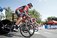 Team BMC off the start ramp<br /> <br /> Elite Men's Team Time Trial<br /> UCI Road World  Championships Richmond 2015