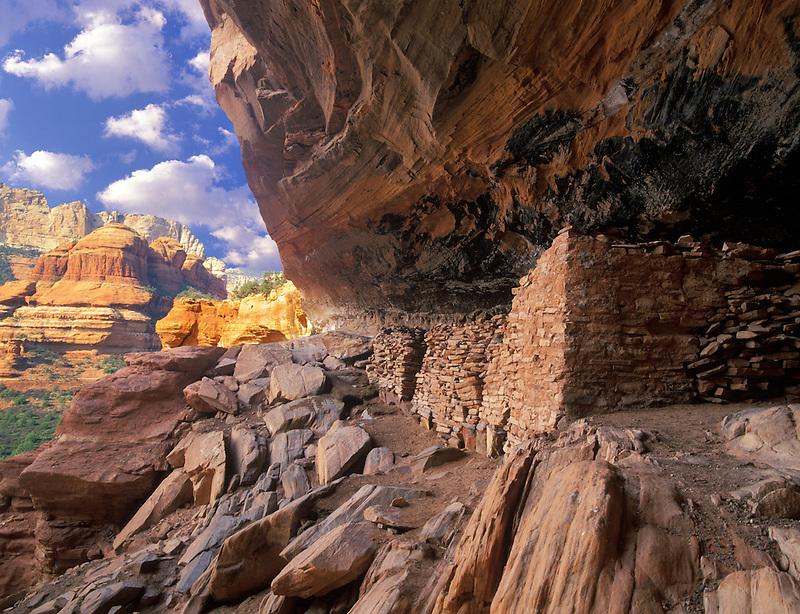 Manipulated image of Indian Ruins. Near Sedona Arizona