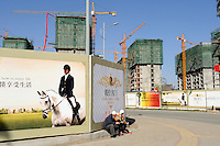 Properties in construction in Kangbashi district of the Chinese city of Ordos, Inner Mongolia. 12-May-2011