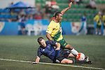 Wallsend Boys Club vs HKFC Veterans during the HKFC Citi Soccer Sevens on 20 May 2016 in the Hong Kong Footbal Club, Hong Kong, China. Photo by Li Man Yuen / Power Sport Images