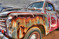 Colorful Old Studebaker Truck - New Mexico - Route 66