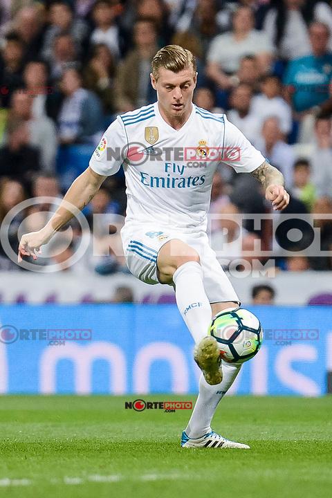 Real Madrid Toni Kroos during La Liga match between Real Madrid and Athletic Club at Santiago Bernabeu Stadium in Madrid. April 19, 2017. (ALTERPHOTOS/Borja B.Hojas) /NortePhoto.com