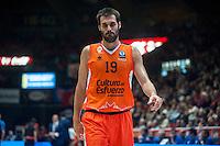 VALENCIA, SPAIN - NOVEMBER 18: Fernando San Emeterio during EUROCUP match between Valencia Basket Club and CAI SLUC Nancy at Fonteta Stadium on November 18, 2015 in Valencia, Spain