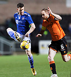 Dundee United v St Johnstone…12.01.21   Tannadice     SPFL<br />Guy Melamed and Mark Reynolds<br />Picture by Graeme Hart.<br />Copyright Perthshire Picture Agency<br />Tel: 01738 623350  Mobile: 07990 594431