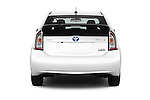 Straight rear view of 2015 Toyota Prius Comfort 5 Door Hatchback Rear View  stock images