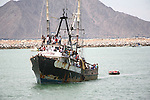 LOCALS TAKE RIDE ON FISHING BOAT IN SAN FELIPE MEXICO ON NAVY DAY (1)