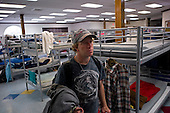 Los Angeles, California<br /> January 30, 2014<br /> <br /> In the PATH Hollywood center Benjamin Samual (cq) Wahl, 28, from Philadelphia who served two years of a four-year signup with the Navy now stays in the shelter after a few years on the streets. He and his wife Brandi Wahl, 24 are applying for HUD Vash housing vouchers but in the meantime they sleep at the PATH shelter.
