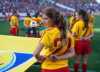 FIFA flag bearers.  The USWNT defeated Brazil, 4-1, at an international friendly at the Florida Citrus Bowl in Orlando, FL.