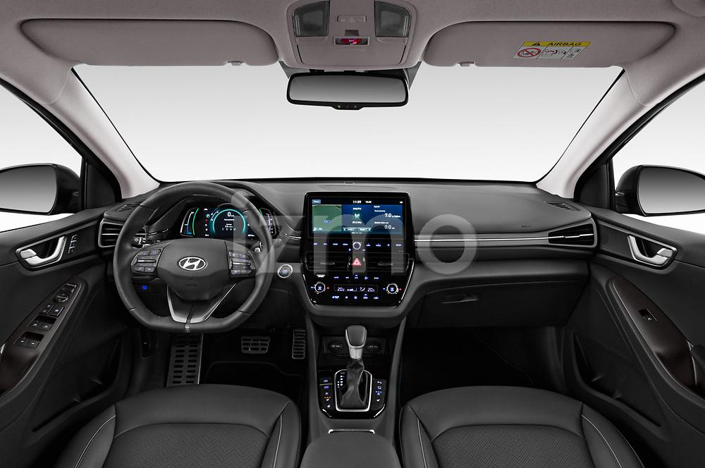 Stock photo of straight dashboard view of a 2020 Hyundai Ioniq Hybrid Shine 5 Door Hatchback