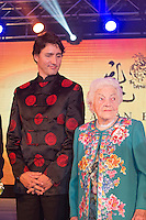 Canadian Prime Minister Justin Trudeau and former Mississauga mayor Hazel McCallion (right) attend the 27th Annual Dragon Ball Gala in celebration of the Chinese New Year,<br />  February 6, 2016.<br /> <br /> <br /> PHOTO : J. Adam Huggins - Agence Quebec Presse