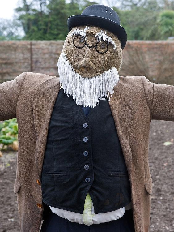 Scarecrow, Heligan, Cornwall, mid February.