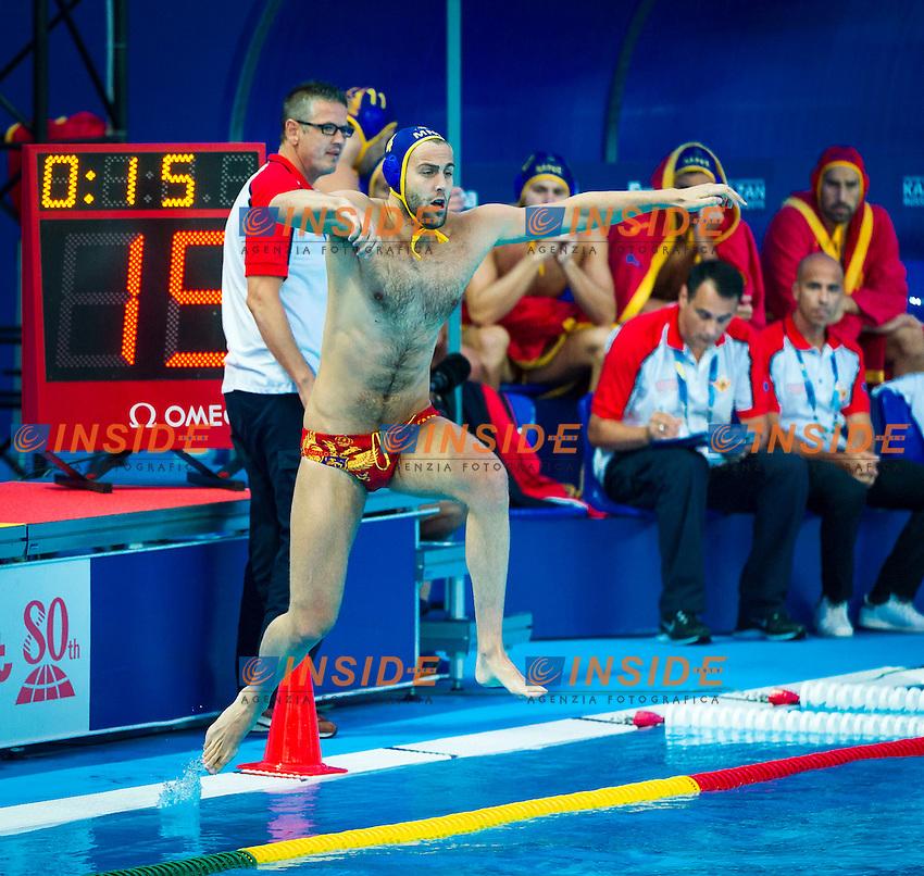KAZ - MNE<br /> Kazakistan Vs Montenegro<br /> PILIPENKO Roman MNE<br /> Day 10 02/08/2015<br /> XVI FINA World Championships Aquatics<br /> Waterpolo<br /> Kazan Tatarstan RUS July 24 - Aug. 9 2015 <br /> Photo Pasquale Mesiano/Deepbluemedia/Insidefoto